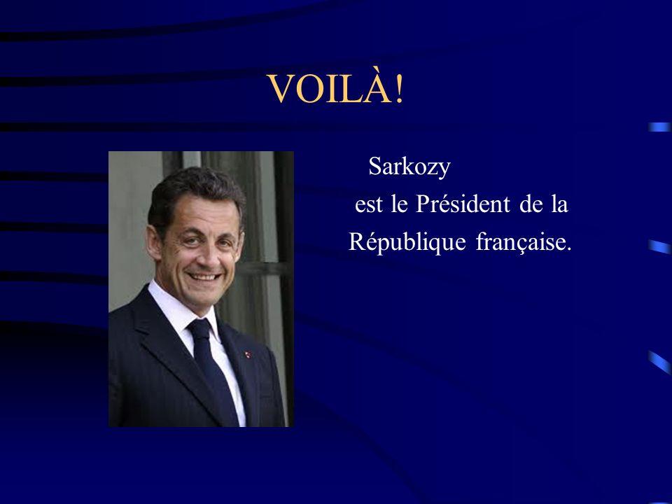 VOILÀ! Sarkozy est le Président de la République française.