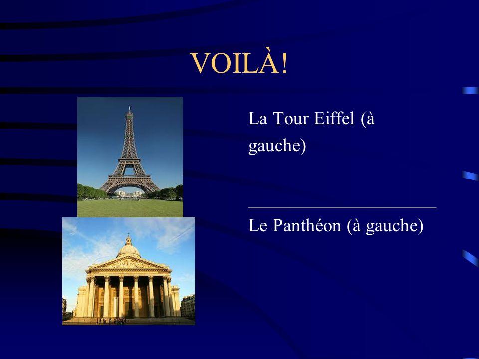 VOILÀ! La Tour Eiffel (à gauche) ____________________