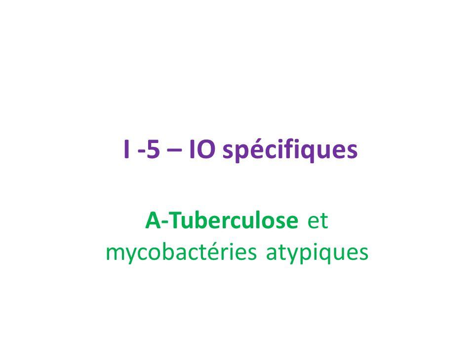 A-Tuberculose et mycobactéries atypiques
