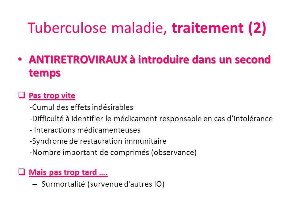 Tuberculose maladie, traitement (2)