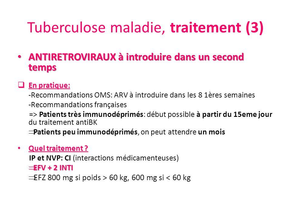 Tuberculose maladie, traitement (3)