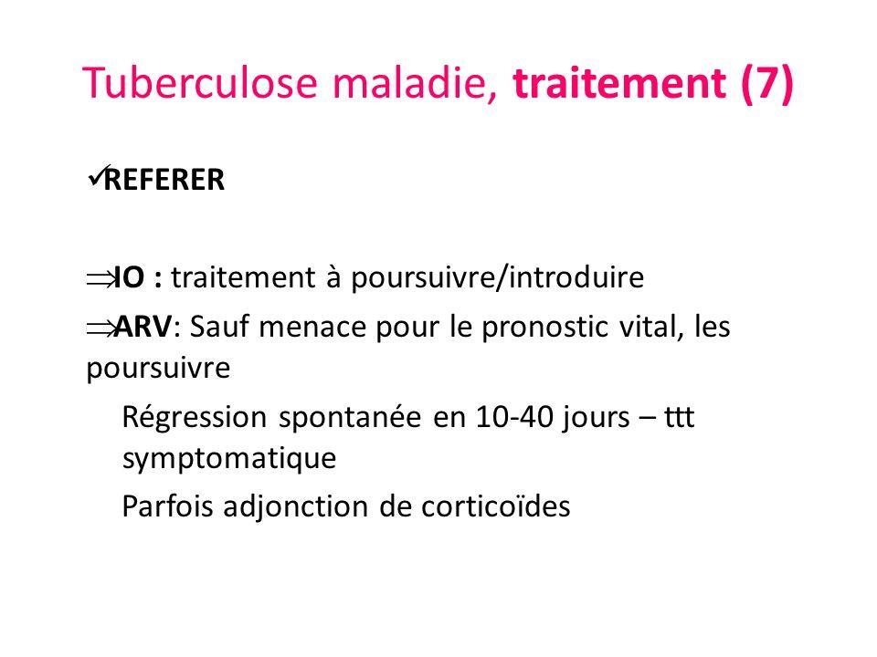 Tuberculose maladie, traitement (7)