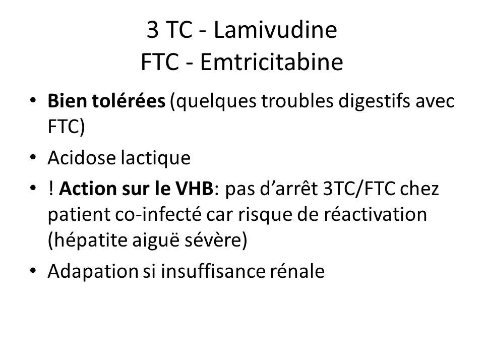 3 TC - Lamivudine FTC - Emtricitabine