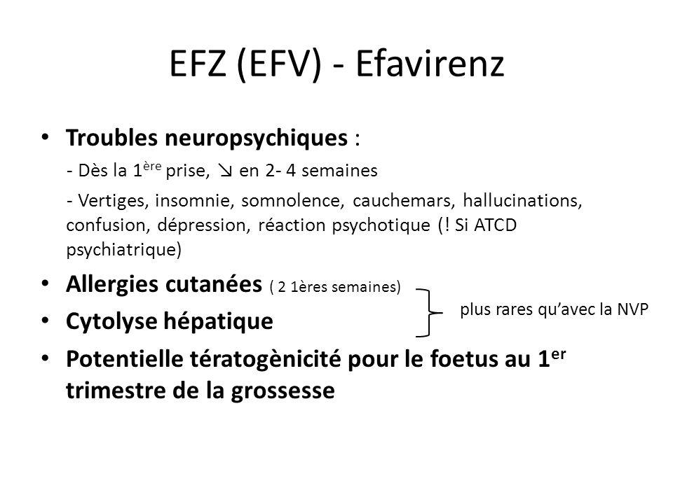 EFZ (EFV) - Efavirenz Troubles neuropsychiques :