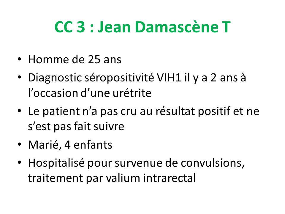CC 3 : Jean Damascène T Homme de 25 ans