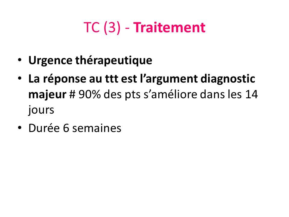 TC (3) - Traitement Urgence thérapeutique