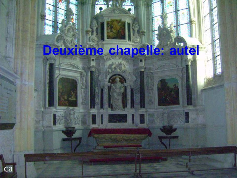 Deuxième chapelle: autel