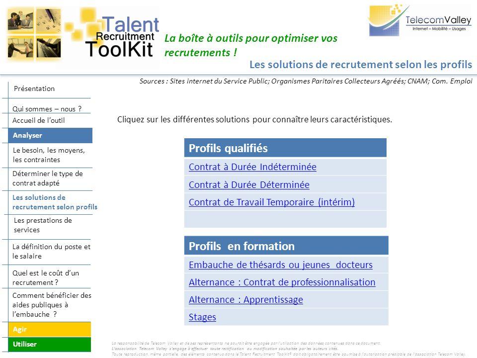 Profils qualifiés Profils en formation