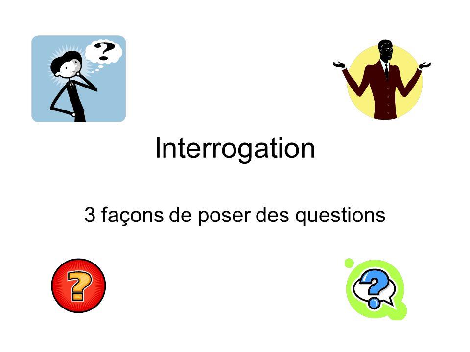 3 façons de poser des questions