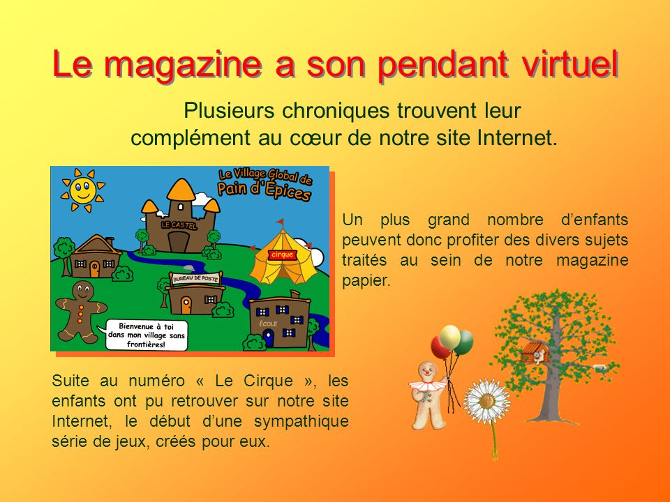 Le magazine a son pendant virtuel