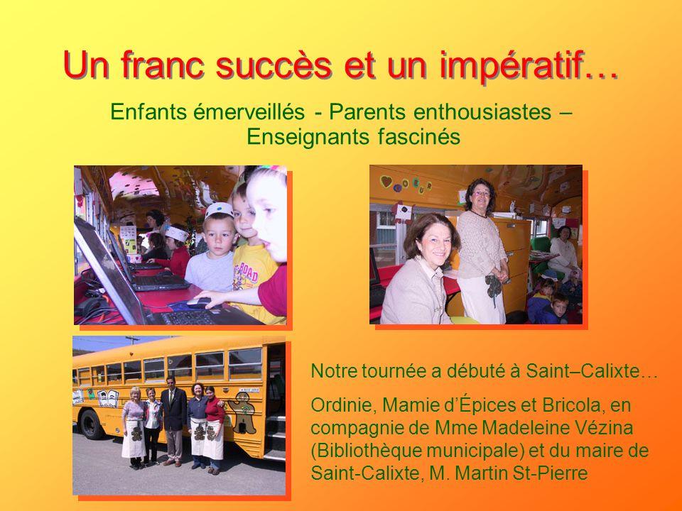 Un franc succès et un impératif…