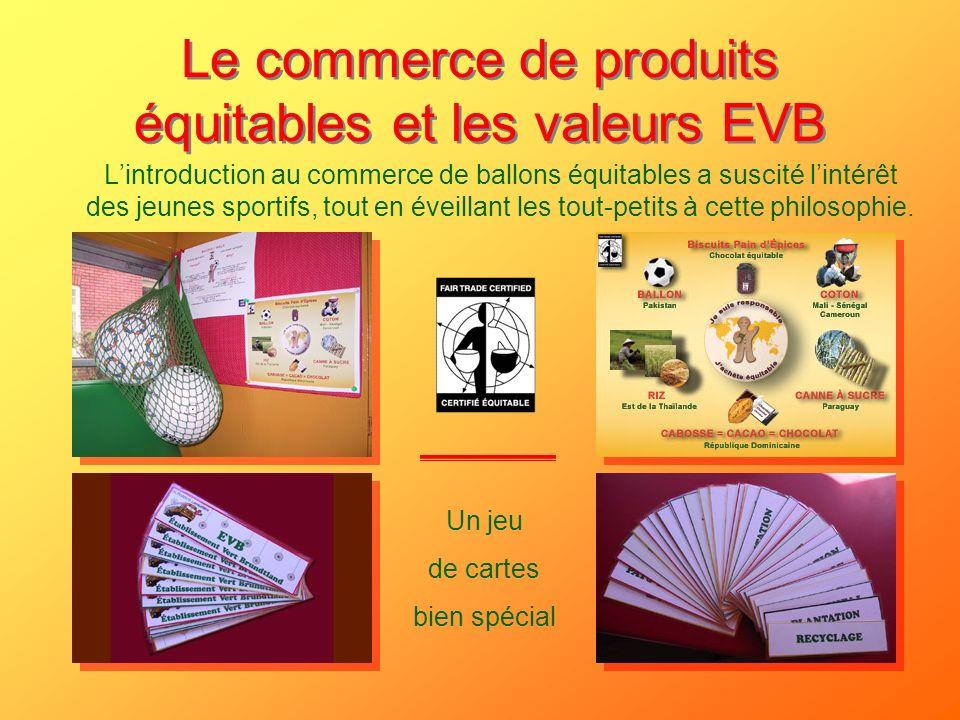 Le commerce de produits équitables et les valeurs EVB