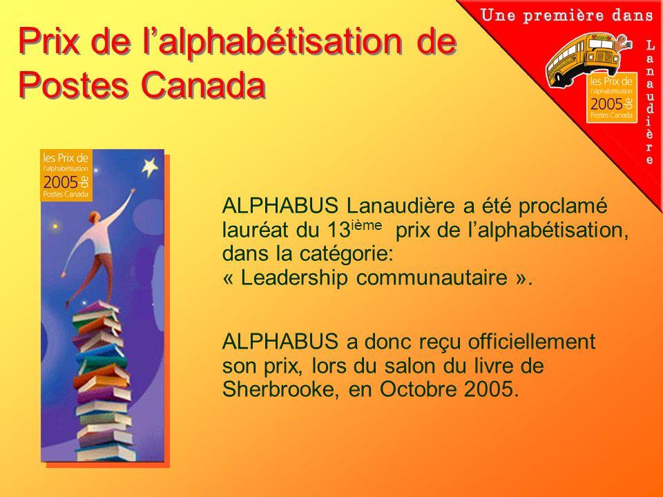 Prix de l'alphabétisation de Postes Canada