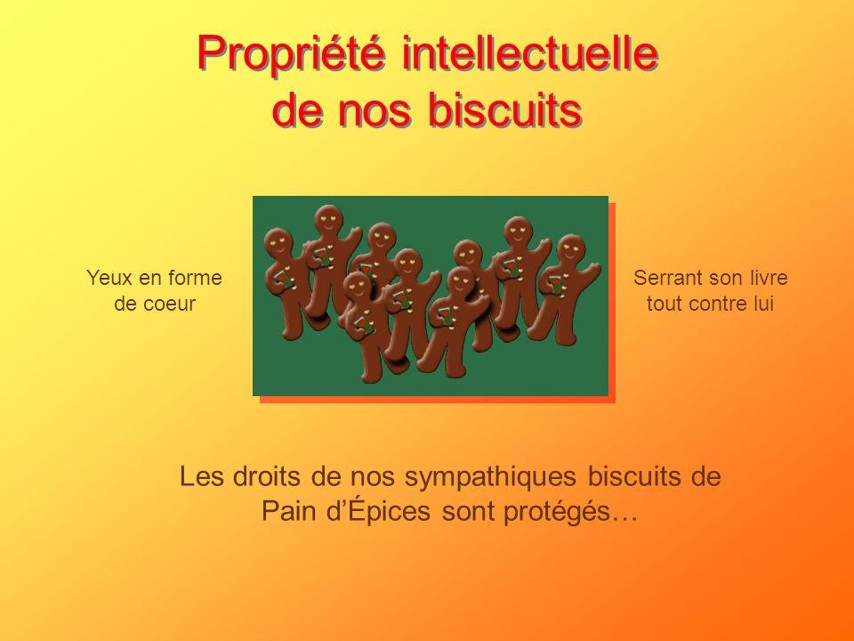 Propriété intellectuelle de nos biscuits