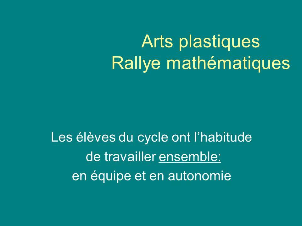 Arts plastiques Rallye mathématiques