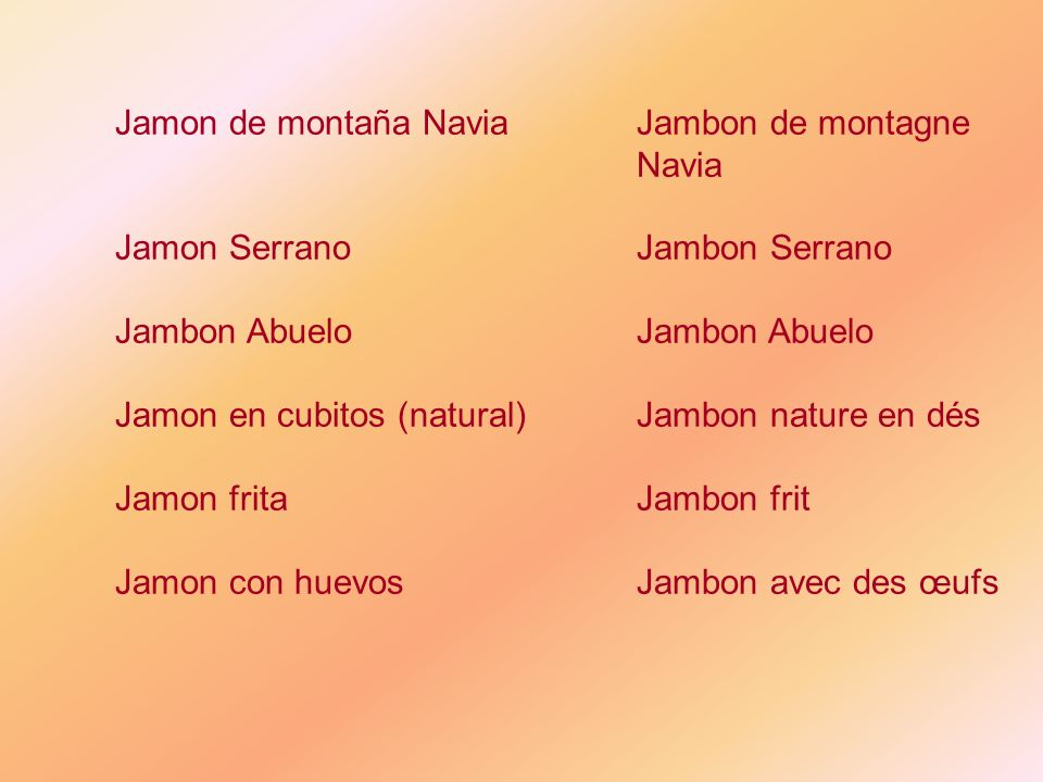 Jamon de montaña Navia Jambon de montagne Navia