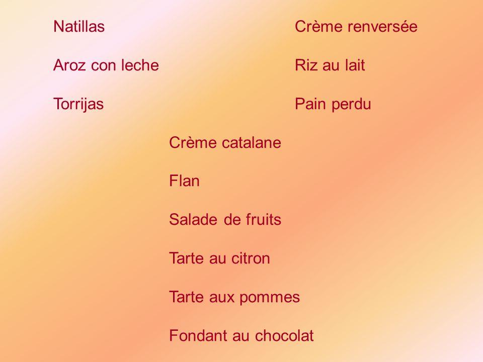 Natillas Crème renversée