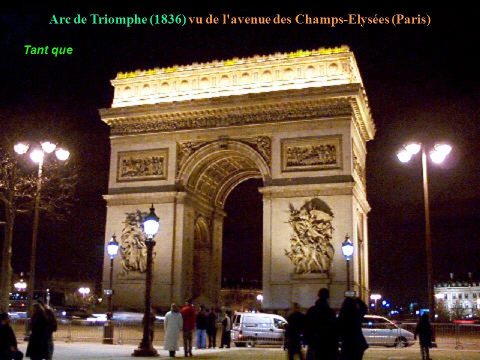 Arc de Triomphe (1836) vu de l avenue des Champs-Elysées (Paris)