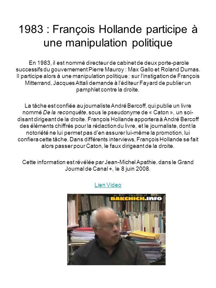 1983 : François Hollande participe à une manipulation politique
