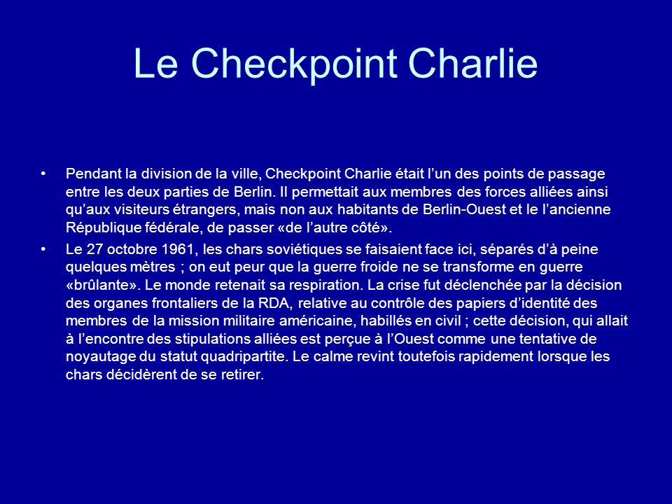 Le Checkpoint Charlie