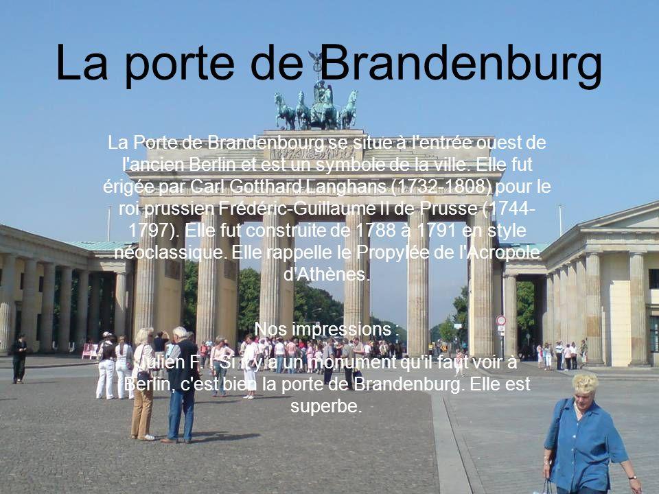 La porte de Brandenburg