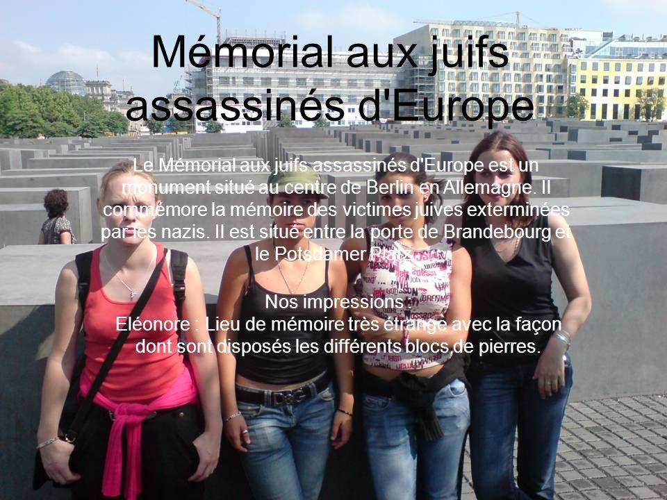 Mémorial aux juifs assassinés d Europe