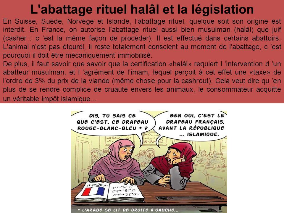L abattage rituel halâl et la législation