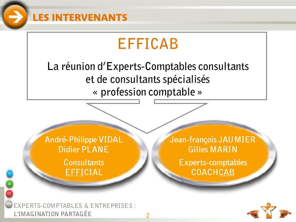 EFFICAB Société de formation et de conseil filiale d EFFICIAL et de COACH CAB. Des consultants spécialisés profession comptable