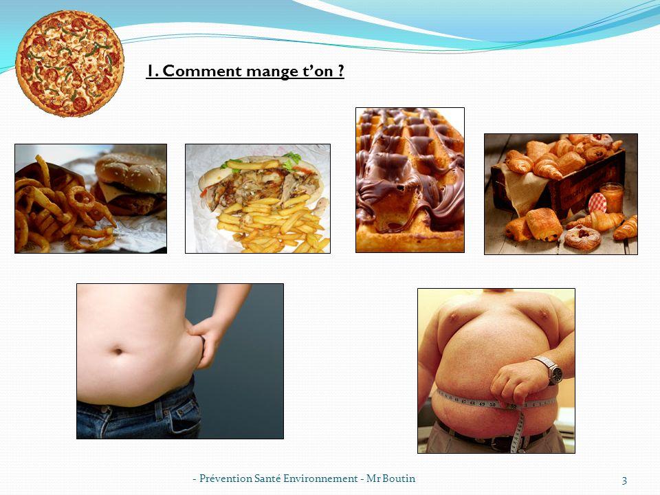 1. Comment mange t'on - Prévention Santé Environnement - Mr Boutin