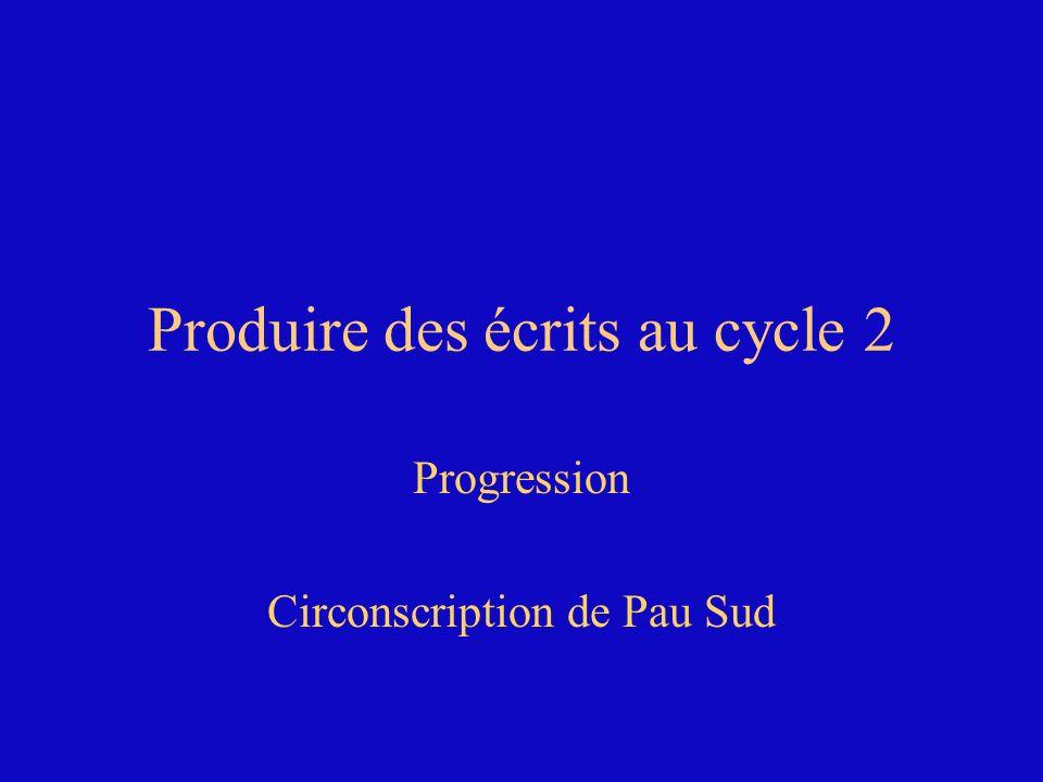 Produire des écrits au cycle 2