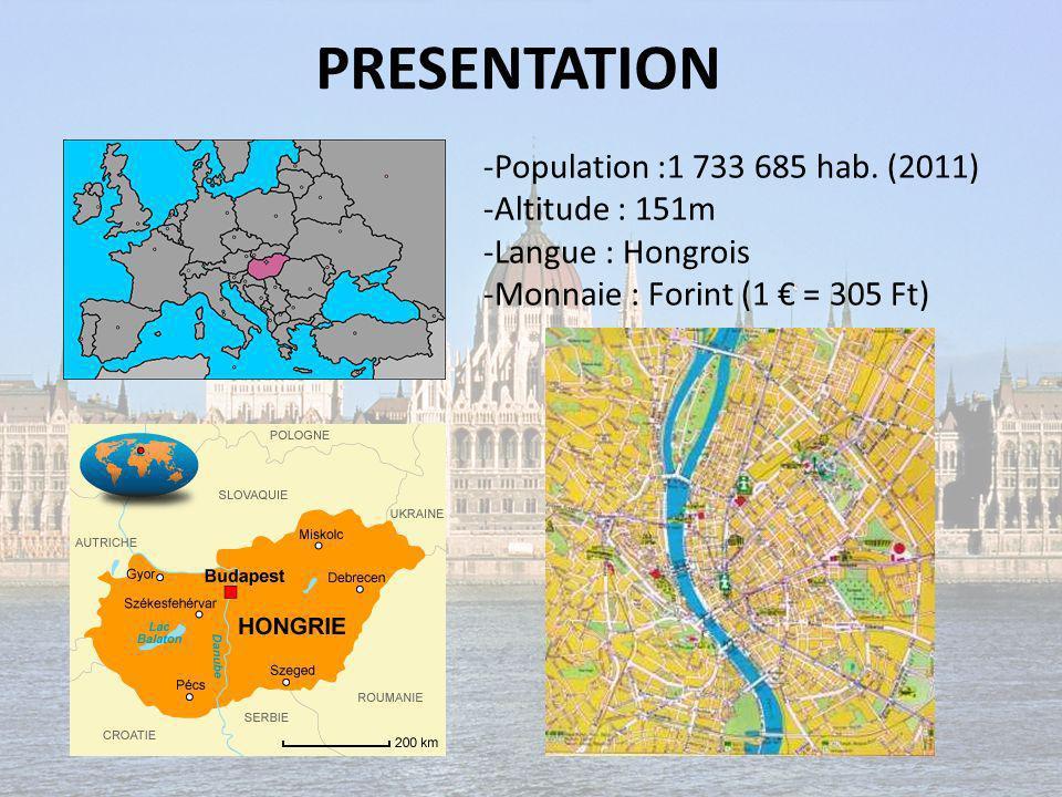 PRESENTATION -Population :1 733 685 hab. (2011) -Altitude : 151m