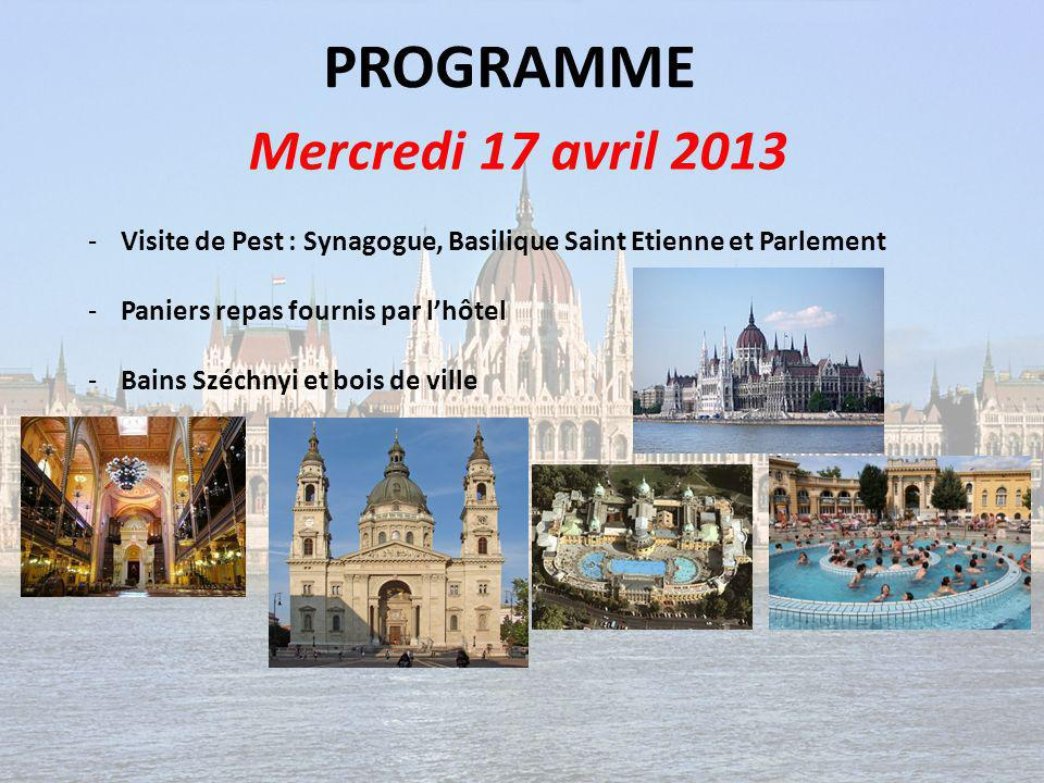 PROGRAMME Mercredi 17 avril 2013