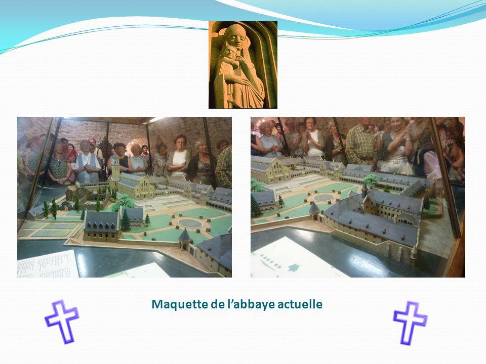 Maquette de l'abbaye actuelle