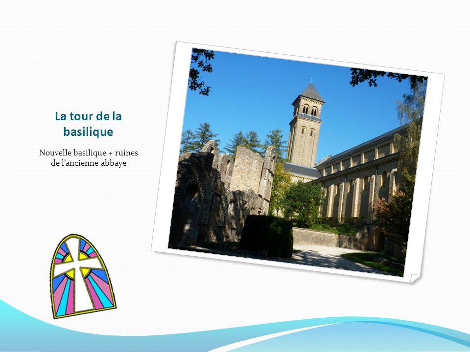 Nouvelle basilique + ruines de l'ancienne abbaye