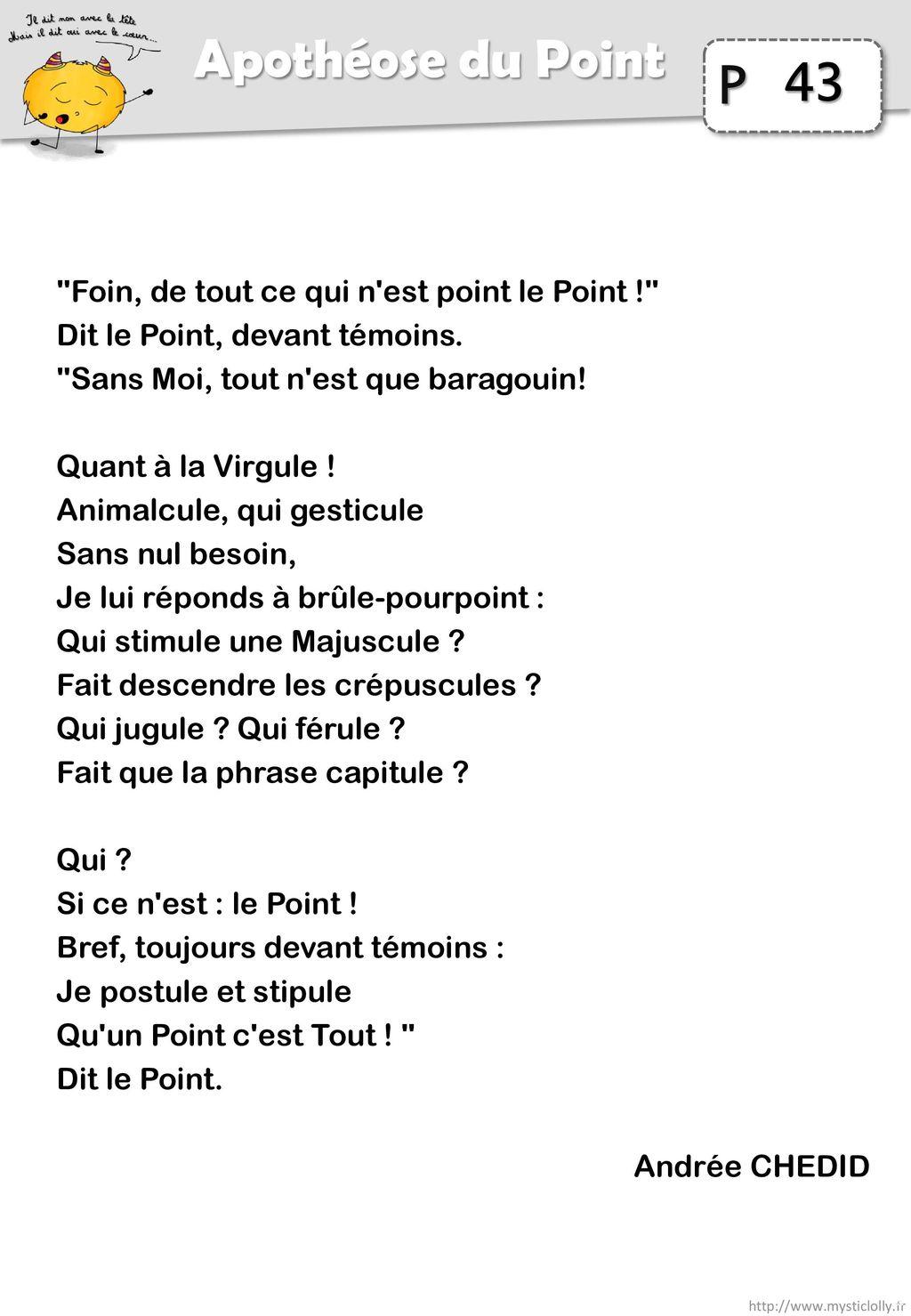 43 Apothéose du Point Foin, de tout ce qui n est point le Point !