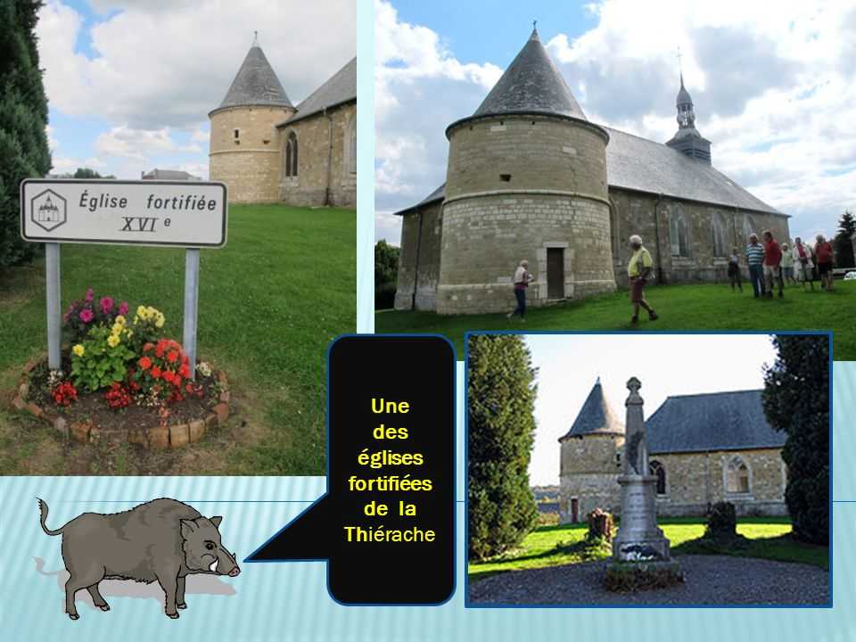 Une des églises fortifiées de la Thiérache