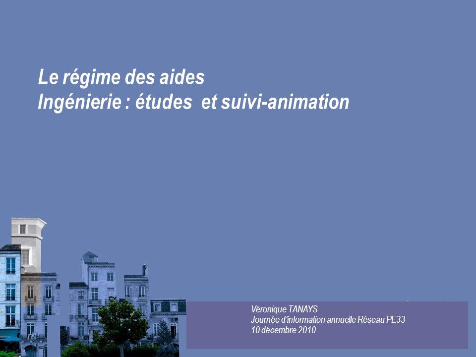 Ingénierie : études et suivi-animation
