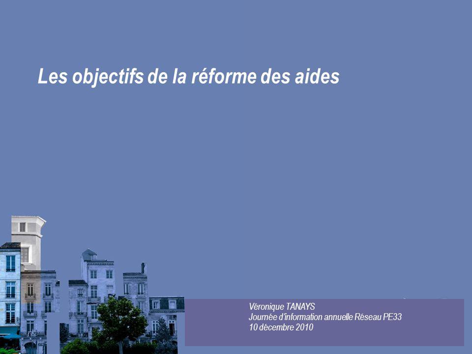 Les objectifs de la réforme des aides