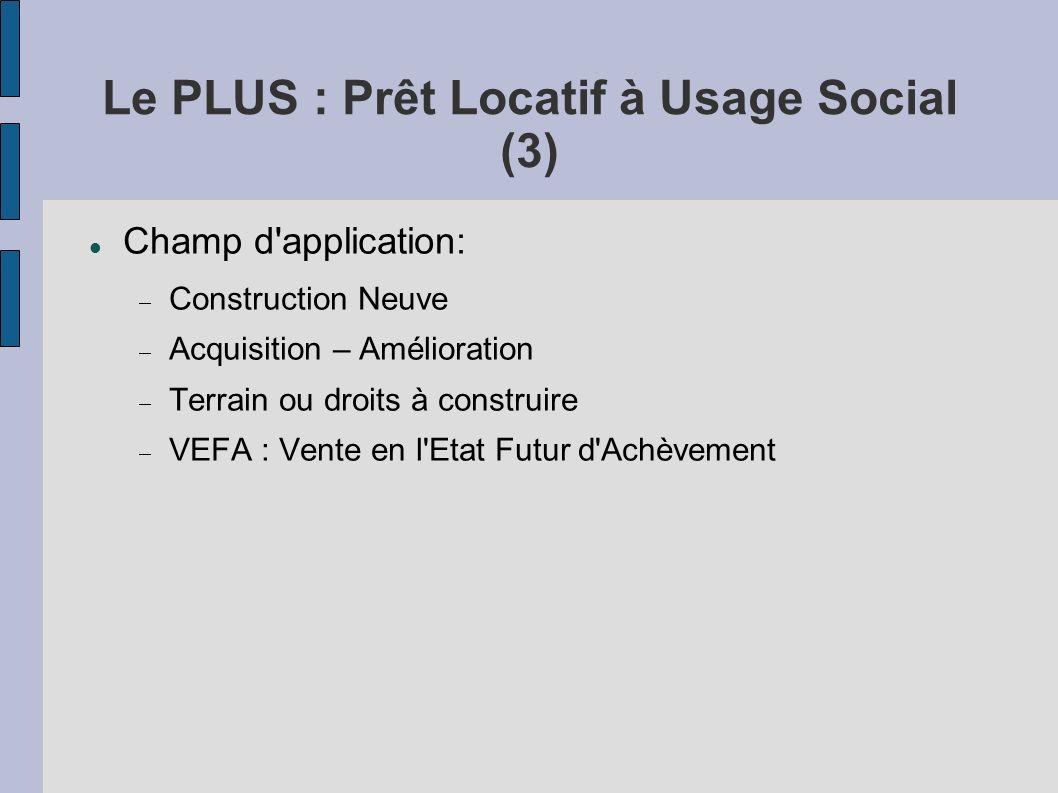 Le PLUS : Prêt Locatif à Usage Social (3)