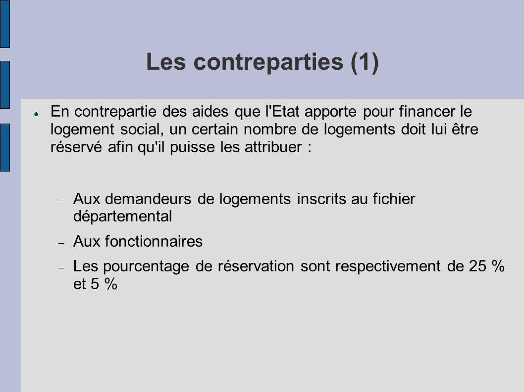 Les contreparties (1)