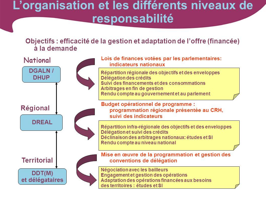 L'organisation et les différents niveaux de responsabilité