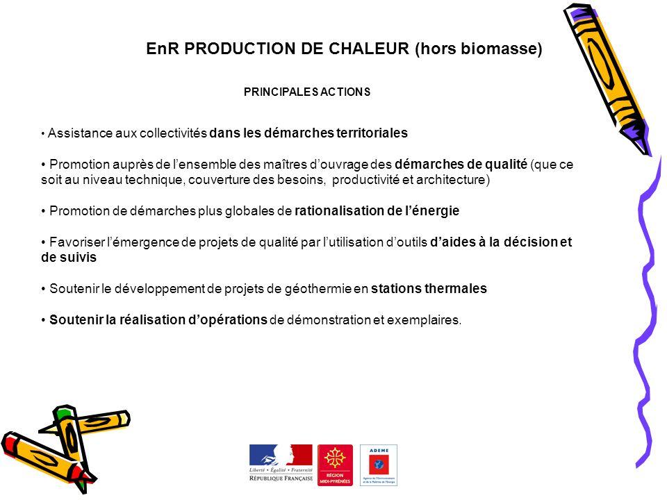 EnR PRODUCTION DE CHALEUR (hors biomasse)