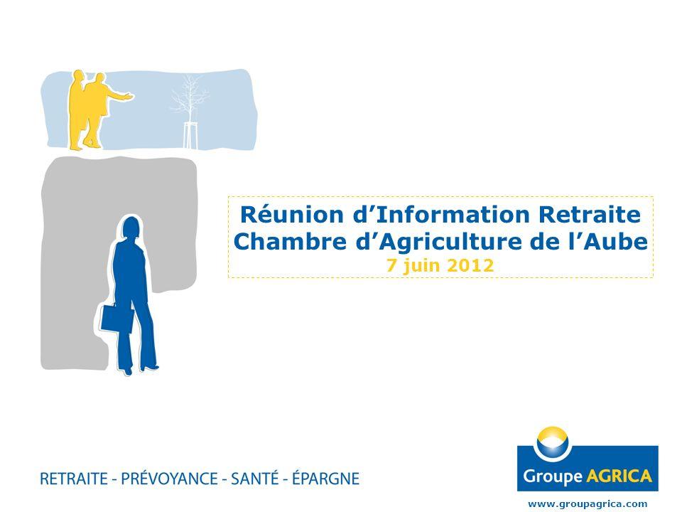 Réunion d'Information Retraite Chambre d'Agriculture de l'Aube 7 juin 2012