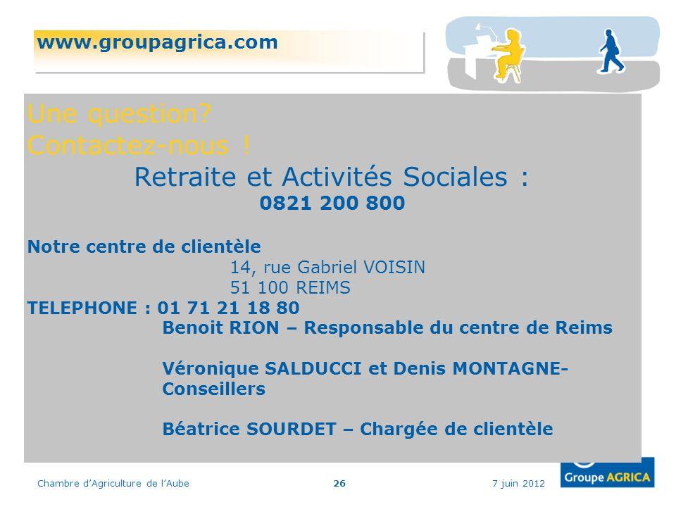 Retraite et Activités Sociales :