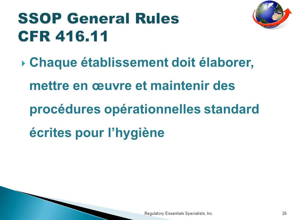 SSOP General Rules CFR 416.11