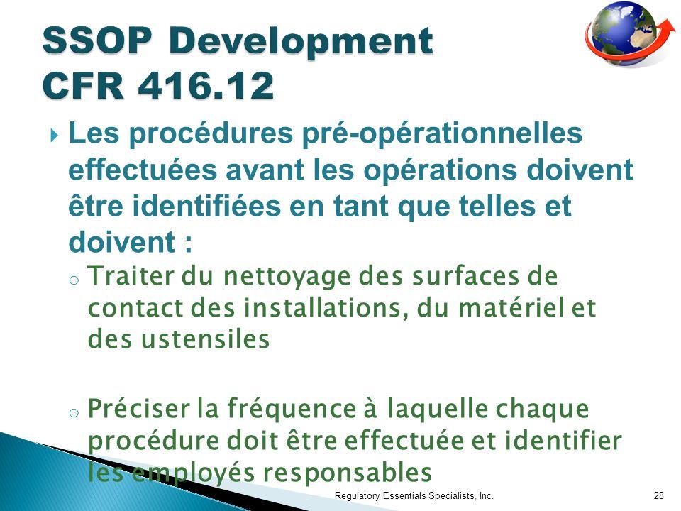 SSOP Development CFR 416.12