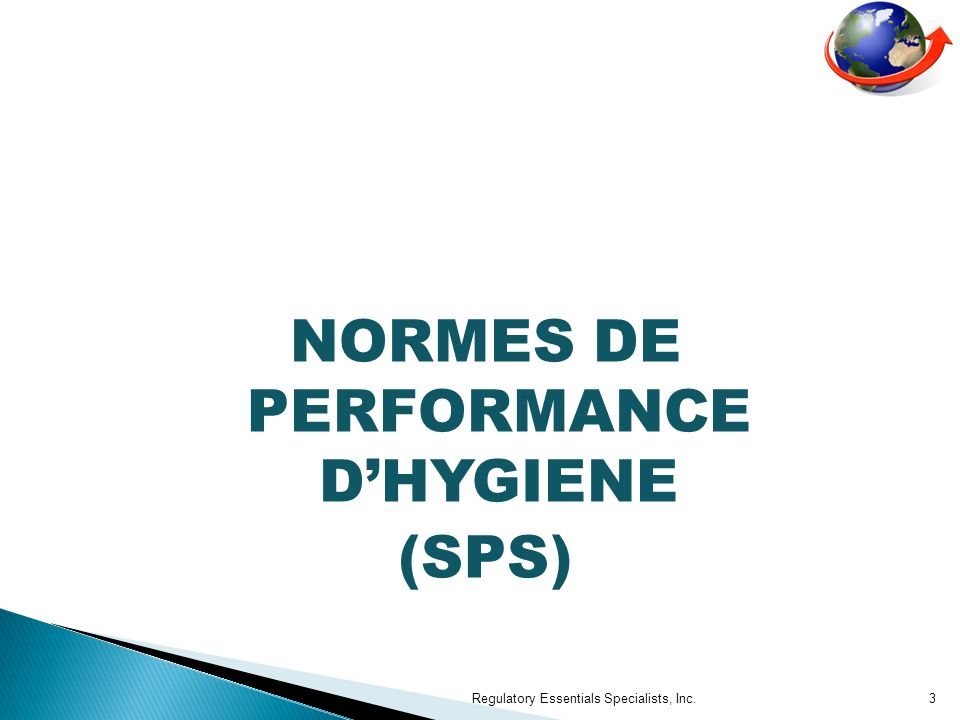 NORMES DE PERFORMANCE D'HYGIENE