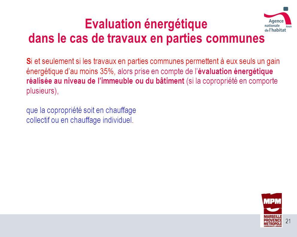 Evaluation énergétique