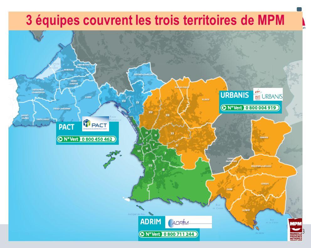 3 équipes couvrent les trois territoires de MPM