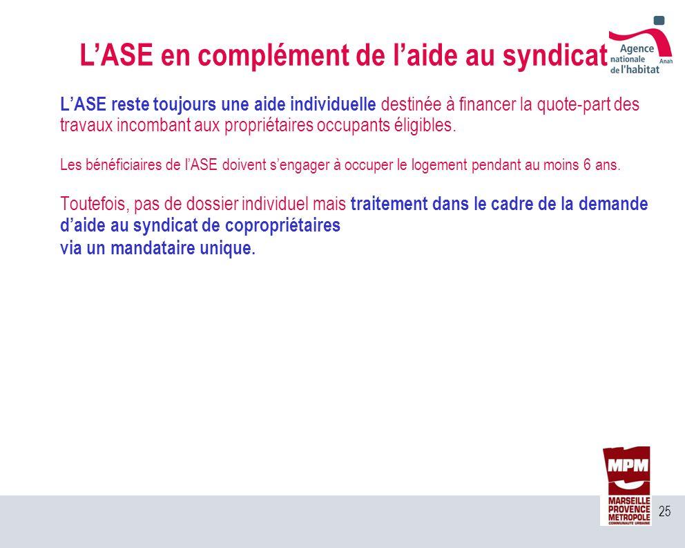L'ASE en complément de l'aide au syndicat